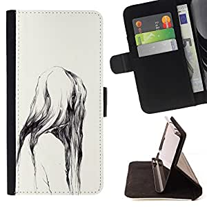 Momo Phone Case / Flip Funda de Cuero Case Cover - Ape naturaleza de la acuarela Dientes - Samsung Galaxy E5 E500