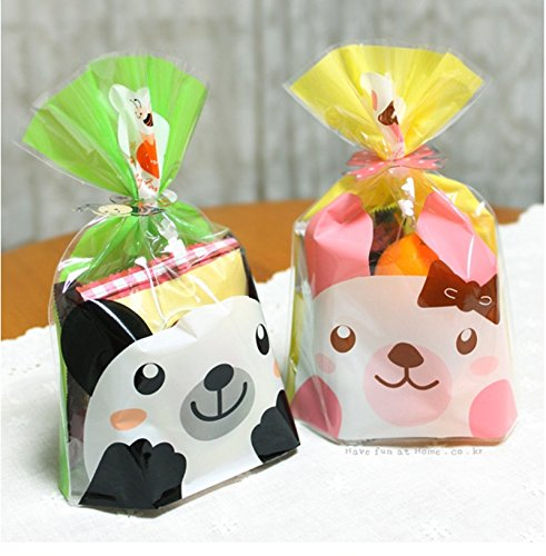 Saasiiyo Cookie packaging plastic bags cartoon panda Rabbit baking bag snack baking package 60pc/lot 14x20cm - Rent A Panda Costume