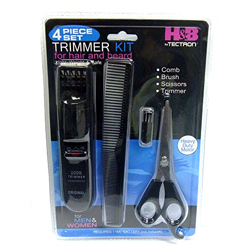 beard trimmers kit for men 4 piece beard grooming kit. Black Bedroom Furniture Sets. Home Design Ideas