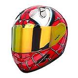 NENKI NK-856 Full Face Spiderman Motorcycle Helmet For Adult &Youth Street Bike,Fiberglass Helmet Shell,DOT Approved (RED BLUE, Medium)