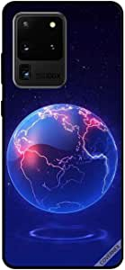 For Samsung S20 Ultra Case Globe Blue Pattern