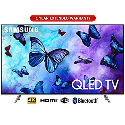 "Samsung 49"" Class QLED Smart 4K UHD TV 2018 Model with 1 Year Extended Warranty"