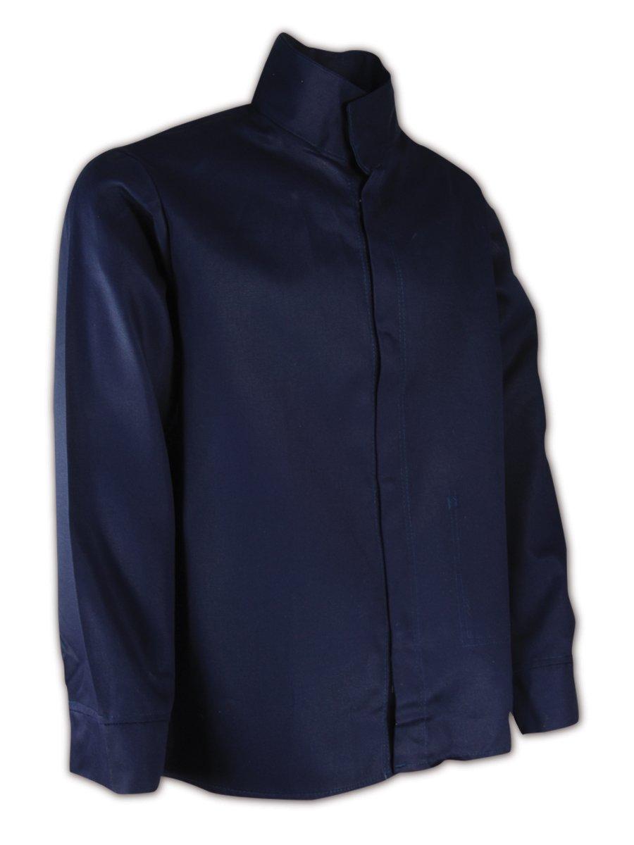 Magid N1530 A.R.C. Cotton Arc-Resistant Jacket with Pocket, Mandarin Collar. X-Large, Navy Blue