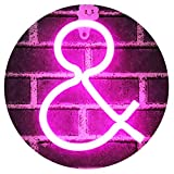 Obrecis Light Up Letters Neon Signs, Ampersand Pink