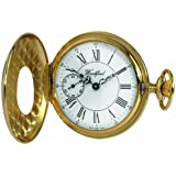 Woodford Swiss-Made Mechanical Half-Hunter Pocket Watch, 1059, Men's  Separate Second-Hand Dial with Chain (Suitable for Engraving)