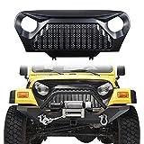 #5: Danti matte black Gladiator Vader Front Grill Grid Grille Cover For Jeep Wrangler TJ & Unlimited 1997 1998 1999 2000 2001 2002 2003 2004 2005 2006