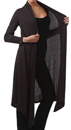 Funfash Plus Size Women Black Kimono Long Cardigan Duster Sweater ...