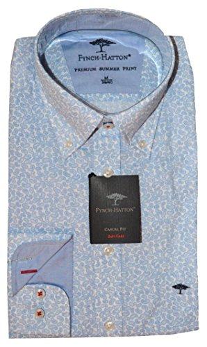 FYNCH-HATTON Herren Hemd, weiß-blau