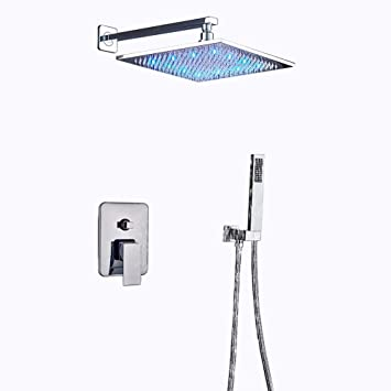 Votamuta Rain Shower Systems Wall Mounted Shower Combo Set With High