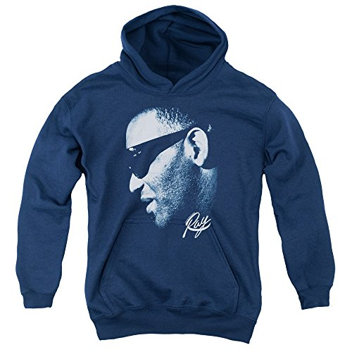 RAY CHARLES/BLUE RAY-YOUTH PULL-OVER HOODIE-NAVY-XL