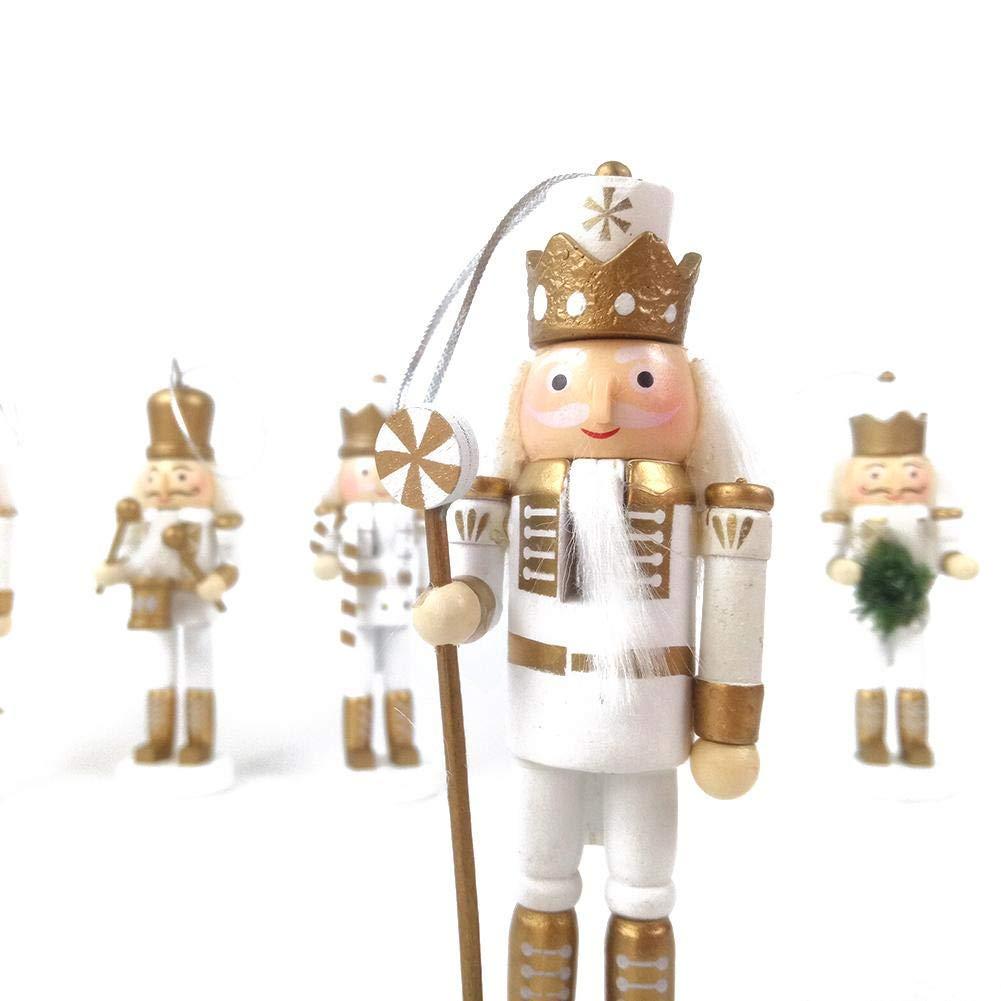 AeeKing 23cm Style Britannique En Bois Casse-Noisette Soldat Marionnette Ornements D/écorations De F/êtes Cadeau pour No/ël Nouvel An Durable et Pratique