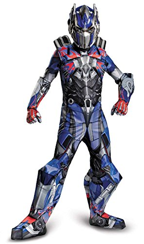 Disguise Transformers Age of Extinction Movie Optimus Prime Prestige Boys Costume, Small/4-6