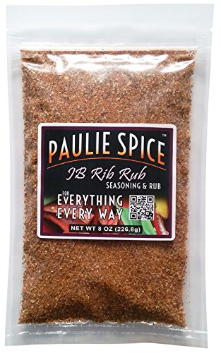Paulie Spice : Sweet & Smoky BBQ Rib Rub and Seasoning For: Ribs, Chicken, Wings, Meat, Pork, Brisket, Beef, Salmon, Fish, Barbecue, Grilling, Grill, Hickory, Smoked, Dry, Rubs, Seasonings, Spices (Roast Rub)