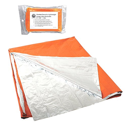 (Polarshield Silver & Orange Survival Blanket Great Visibility Reflects Body Heat)