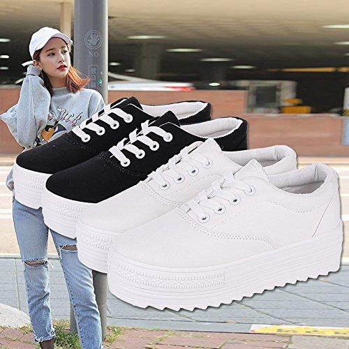 Cybling Donne Outdoor Walking Scarpe Da Ginnastica Scarpe Casual Moda Piattaforma Sneakers Nere