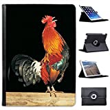 Cockerel for Apple iPad Air 2 2014 Version Faux Leather Folio Presenter Case Cover Bag with Stand Capability