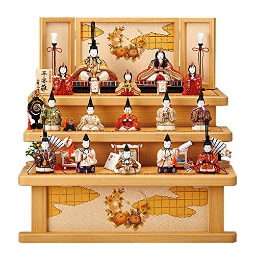 雛人形 木目込み 一秀 ひな人形 十五人飾り 15人  3段 三段 飾り   B07KRSYQB4