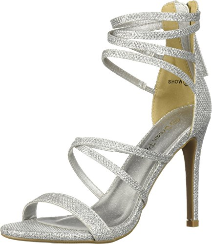 DREAM PAIRS Women's Show Pump, Silver Glitter, 9 M US ()