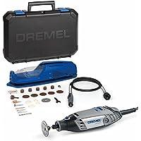 Dremel 3000-1/25 EZ - Multiherramienta con eje flexible (130 W, 1 complemento, 25 accesorios)