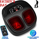 Shiatsu Foot Massager Machine with Heat - Electric Feet Massager...