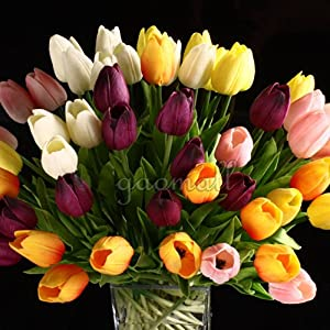 Gaomall - Wholesale Tulip Flower Latex Real Touch For Wedding Bouquet Birthday Party Room Decoration Best Quality Tulip Flower 5