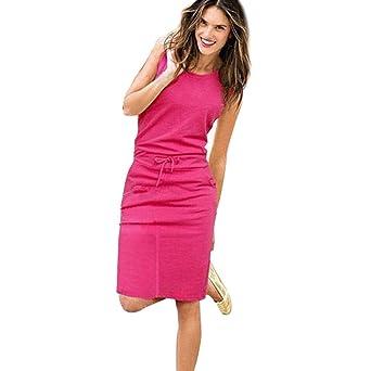 47aeb077c4b0 kleider fest hochzeits lang Mumuj Eng Sleeveless Knielang Kleid ...
