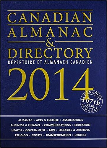 Canadian Almanac & Directory, 2014 (Canadian Almanac and Directory