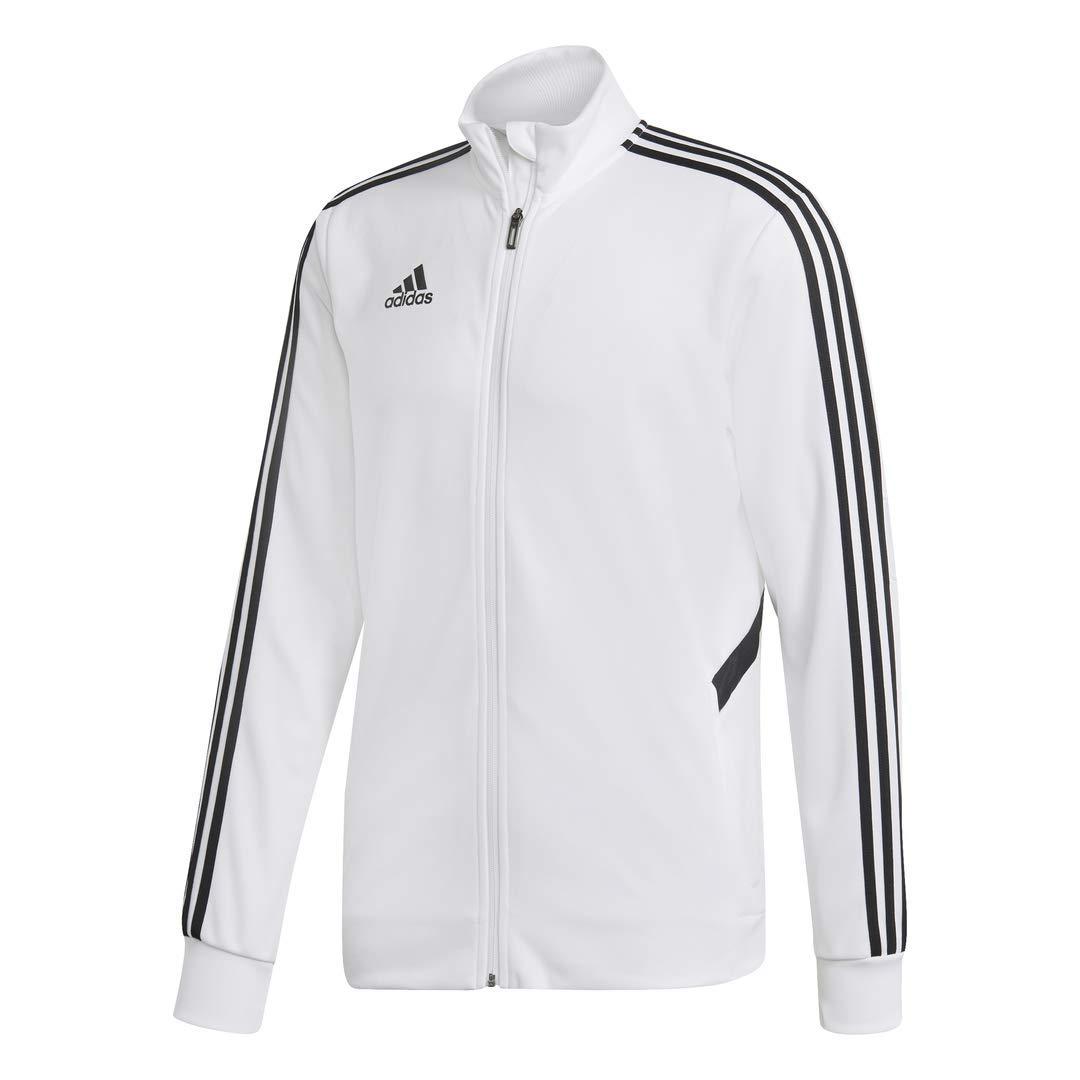 adidas Men's Alphaskin Tiro Training Jacket, White/Black, Small