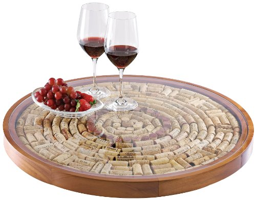 - Wine Enthusiast Wine Cork Lazy Susan Kit