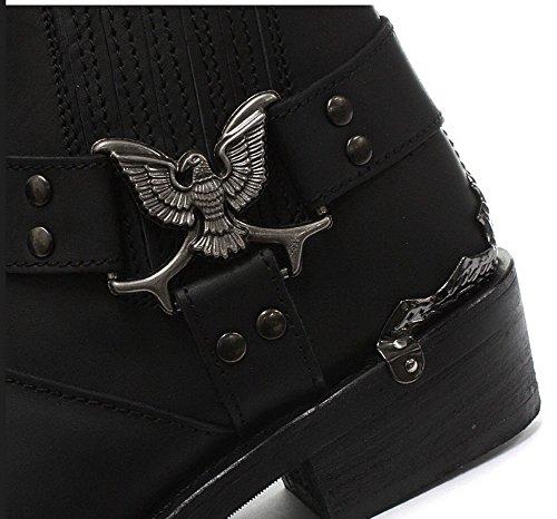 Grinders Nero Eagle Uomini Lo cowboy Moto pelle occidentali Nuovi Stivali