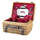 NCAA Washington State Cougars Champion Picnic Basket with Deluxe Service for Two, Red