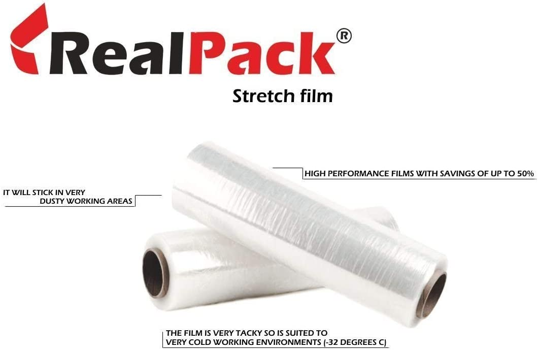 4 pallet wrap shrink wrap clingfilm 500mm x 200m x 23mu BLACK LONG LENGTH