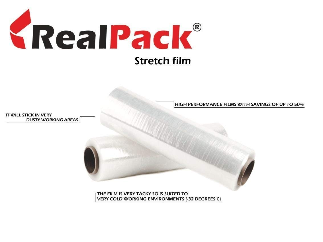 Realpack/â /® 1/x qualit/à a filo Core Clear pallet stretch Wrap Strong Shrink film Dimensioni/ /400/mm x 300/m free Fast Delivery Ideale per avvolgere