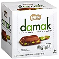 Nestle Damak Fine Chocolate with Pistachios, 2.82 Ounce (6 Bars)