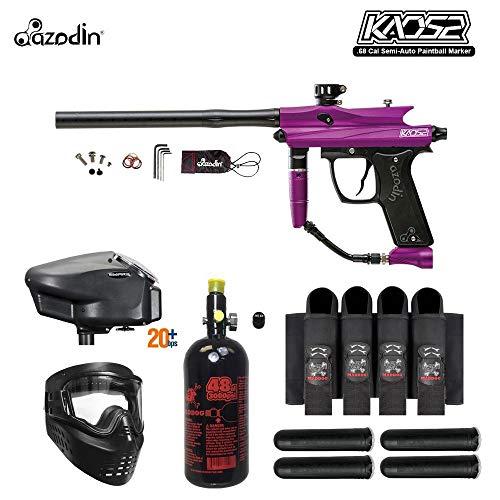 (MAddog Azodin KAOS 2 Expert Paintball Gun Package - Purple/Black)