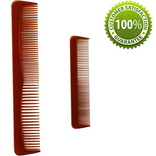 Beauty : Hair Comb For Men & Women with Straight or Curly Hair Styling Comb Set With Detangling Shampoo Wide Tooth Comb & Pocket Fine Tooth Comb. Anti-Static + Anti-Breakage Hair Care for Wet or Dry Hair
