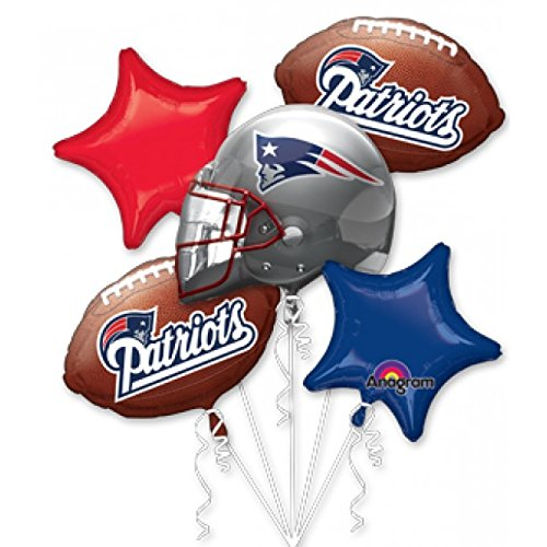 Anagram International Bouquet Patriots Party Balloons, Multicolor (Patriots Party Supplies)