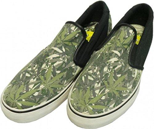 Osiris Skateboard Shoes / Slip On Scoop / Natural Green Leaf