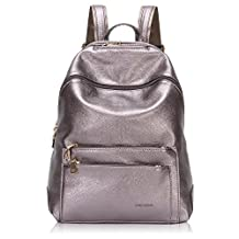 Hynes Victory Women Faux Leather Backpack Purse Travel Shoulder Bag Daypack
