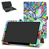 """RCA 11 Galileo Pro RCT6513W87DK Case,Mama Mouth PU Leather Folio 2-folding Stand Cover with Stylus Holder for 11.5"""" RCA 11 Galileo Pro RCT6513W87DK Tablet,Love Tree"""