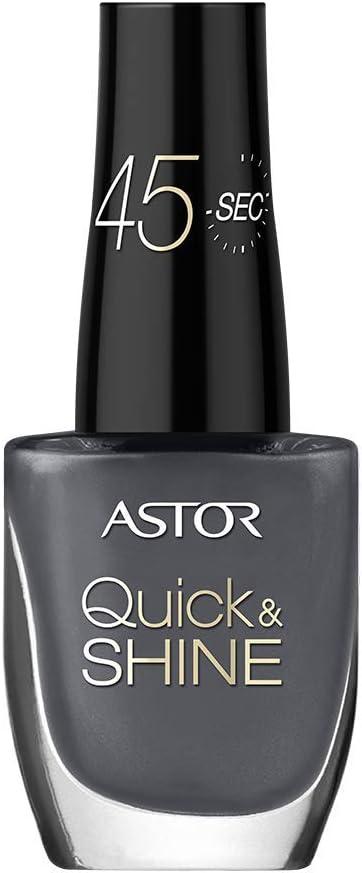 Astor Quick Shine Nail Polish Colour 535 Asphalt Grey Pack Of 3 X 8 G Amazon Co Uk Beauty