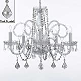 MURANO VENETIAN STYLE ALL-CRYSTAL CHANDELIER WITH TEAK COLOR CRYSTAL!