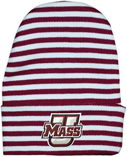 - Creative Knitwear University of Massachusetts (UMass) Minutemen Striped Newborn Baby Um Knit Cap Maroon/White