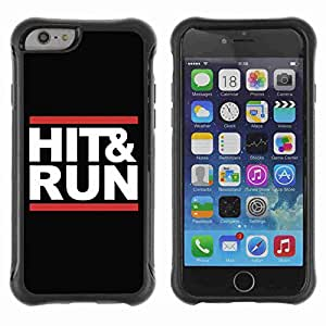 "A-type Arte & diseño Anti-Slip Shockproof TPU Fundas Cover Cubre Case para 4.7"" iPhone 6 ( Funny Hit & Run Message )"