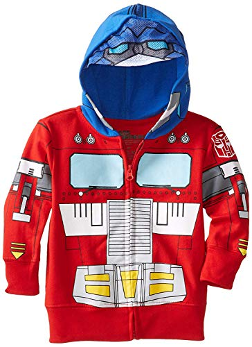 Transformers Optimus Prime Toddler Boys' Character Hoodie, Red, 4T