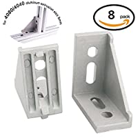 Boeray 8pcs 4080 Inside Corner Bracket Gusset for 4040 or 4080 Series Aluminum Extrusion Profile with Slot 8mm from Boeray