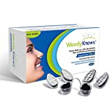 WoodyKnows 3 in 1 Nasal Filters for Allergy Relief, Combine Ultra Breathable, Super Defense and Gas & Pollutant Reducing Nasal Screen(3 Frames and 6 Pairs of Filters, Slotted Nostrils, I-S)