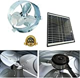 Brightwatts Premium Galvanized Steel Rust Prevention and High Efficiency Blades Solar Gable Attic Fan, Brushless DC Motor, Black Frame Solar Panel, RV, Green House,
