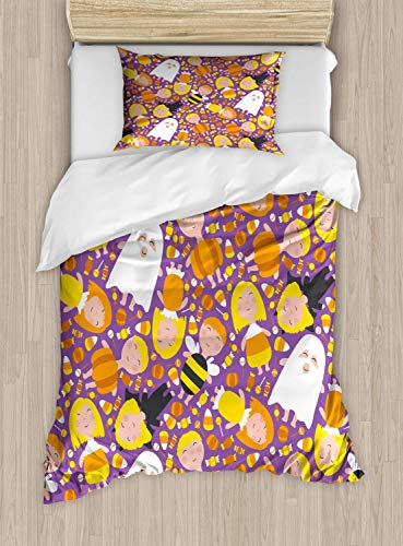 Ghost Duvet Cover Set, Cheerful Kids in