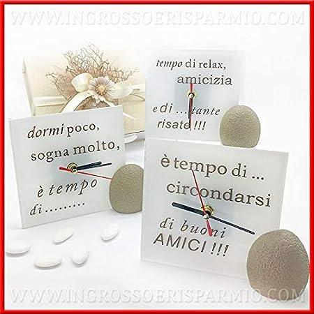 Frasi Matrimonio Orologio.Ingrosso E Risparmio Orologio Da Tavolo Quadrato In Vetro Bianco